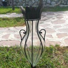 Vintage: JARRON CRISTAL SOPLADO. Lote 187089248