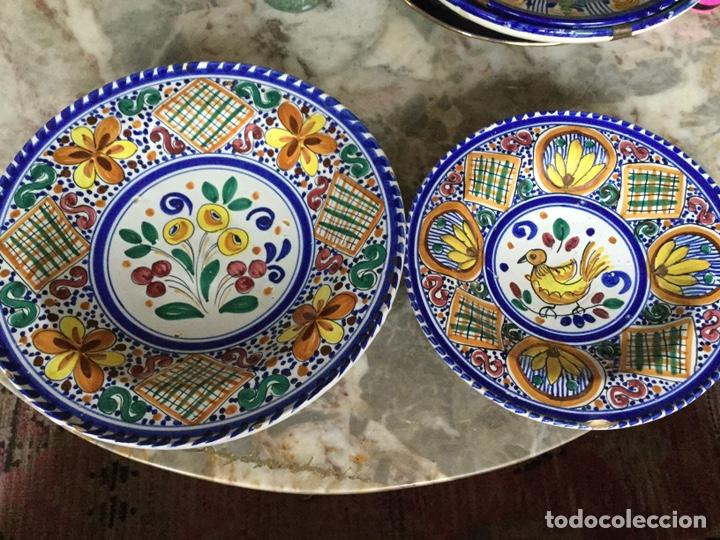 PAREJA PLATOS SANGUINO (Vintage - Decoración - Porcelanas y Cerámicas)