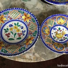 Vintage: PAREJA PLATOS SANGUINO. Lote 187564011