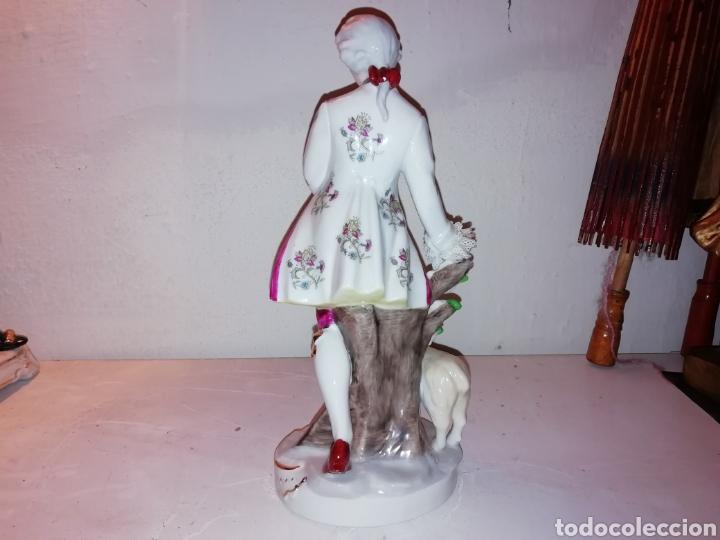 Vintage: Preciosa figura de porcelana Japón. Japan. - Foto 3 - 188579531