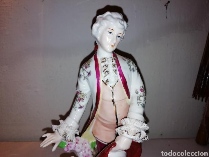 Vintage: Preciosa figura de porcelana Japón. Japan. - Foto 5 - 188579531