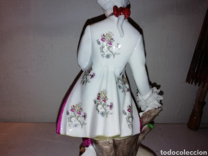 Vintage: Preciosa figura de porcelana Japón. Japan. - Foto 9 - 188579531