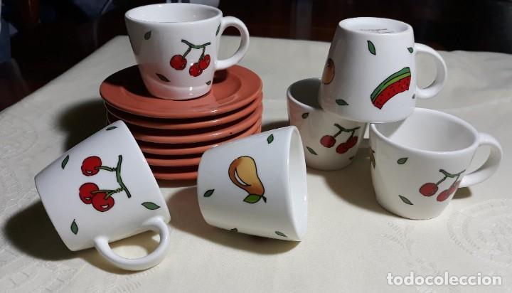 6 TAZAS Y 6 PLATOS CAFE PORCELANA (Vintage - Decoración - Porcelanas y Cerámicas)