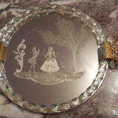 Vintage: BANDEJA DE CRISTAL . Lote 189167555