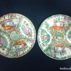 Vintage: PAREJA PLATOS PORCELANA MACAO. Lote 190426138
