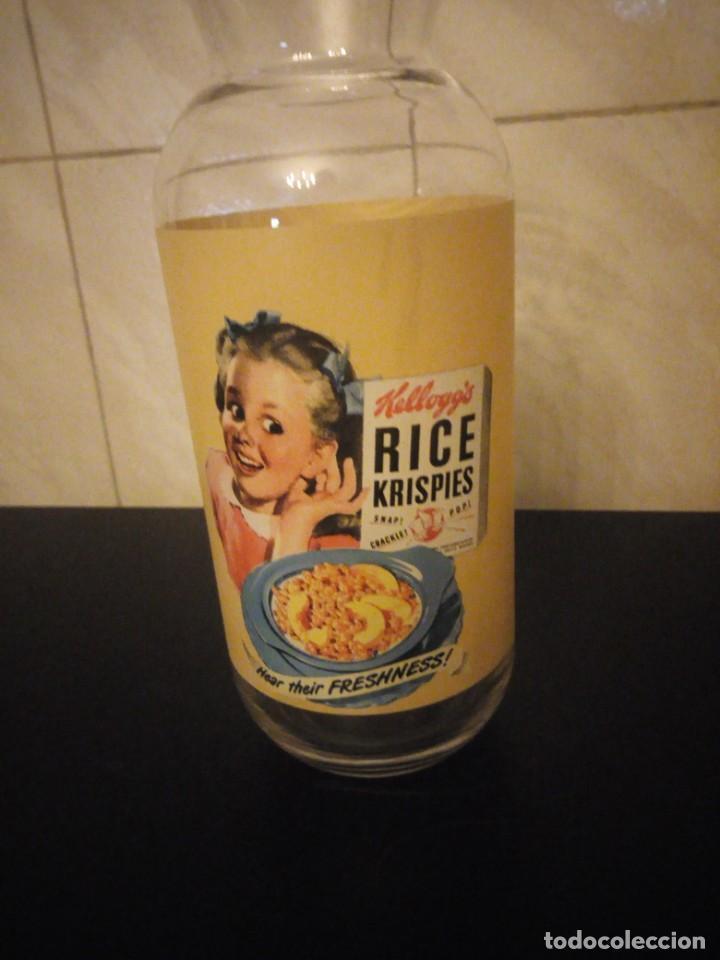 Vintage: Bonita botella de leche publicidad kellogg´s rice krispies. cristal serigrafiado. - Foto 2 - 190561011