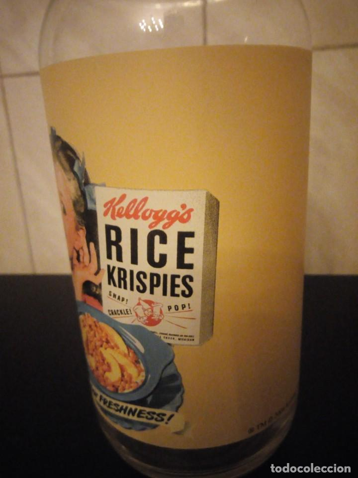 Vintage: Bonita botella de leche publicidad kellogg´s rice krispies. cristal serigrafiado. - Foto 5 - 190561011