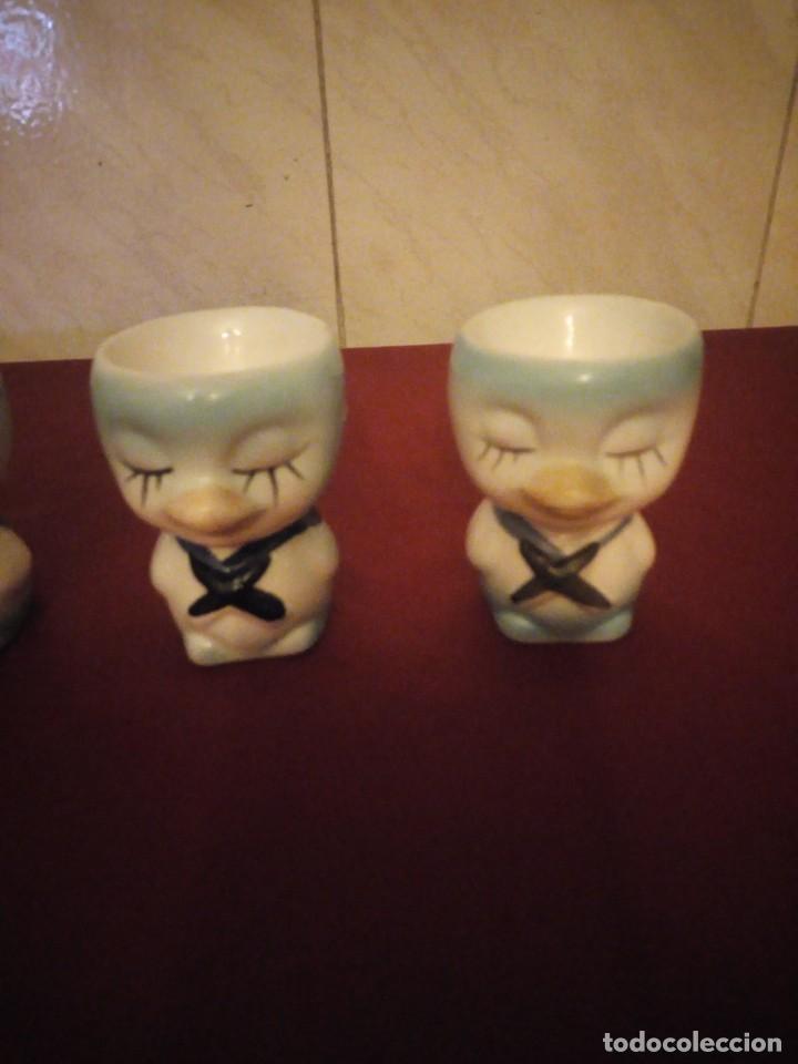 Vintage: Lote de 3 hueveras de porcelana forma de patitos muy divertidas. - Foto 2 - 190562561