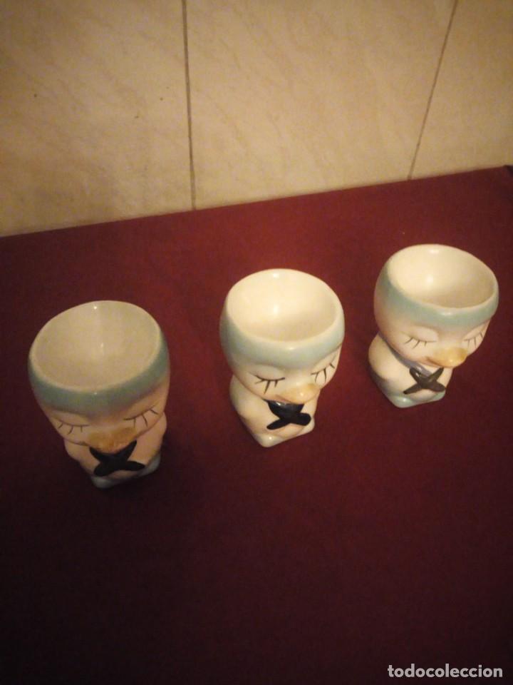 Vintage: Lote de 3 hueveras de porcelana forma de patitos muy divertidas. - Foto 4 - 190562561