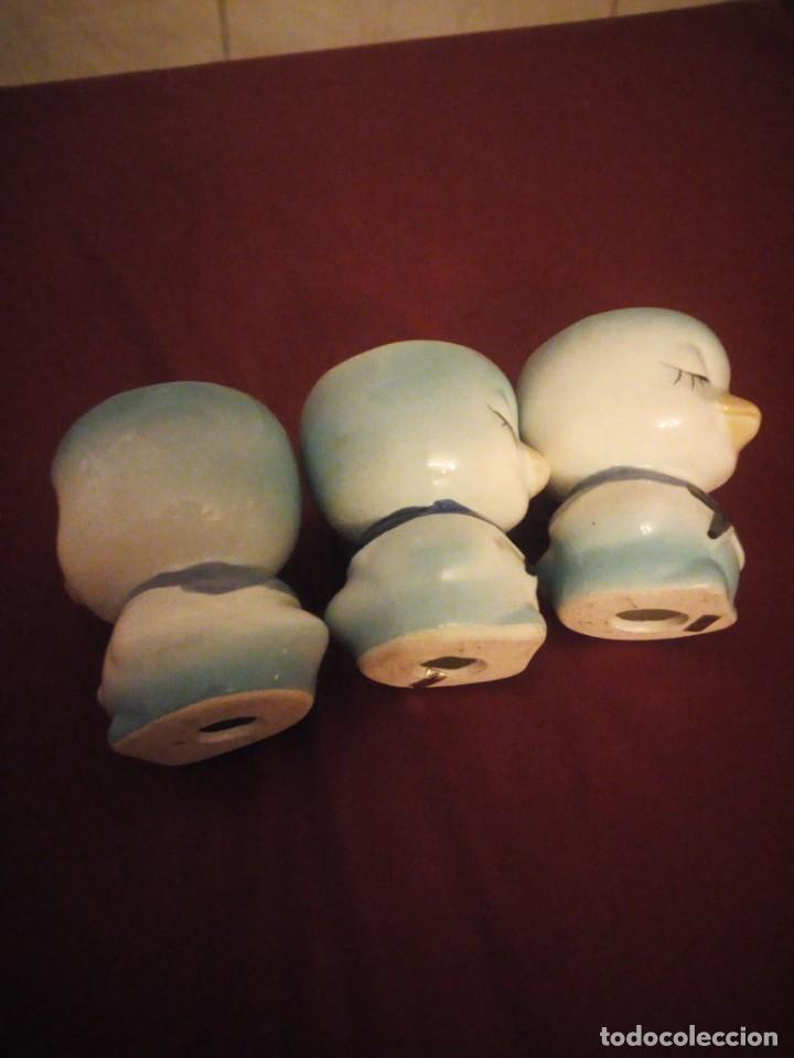 Vintage: Lote de 3 hueveras de porcelana forma de patitos muy divertidas. - Foto 5 - 190562561