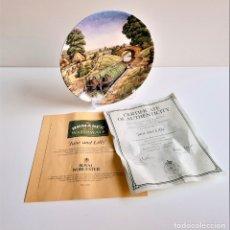 Vintage: PLATO ROYAL WORCESTER - JANE AND LILLY + CERTIFICADO NUMERADO - 21.CM DIAMETRO. Lote 191011728