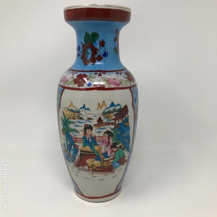 JARRÓN DE ORIGEN CHINO (Vintage - Decoración - Jarrones y Floreros)