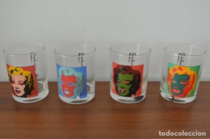 Vintage: Set 4 vasos Andy Warhol en su caja original jamás usados. Descatalogados piezas de coleccionista - Foto 2 - 191139821