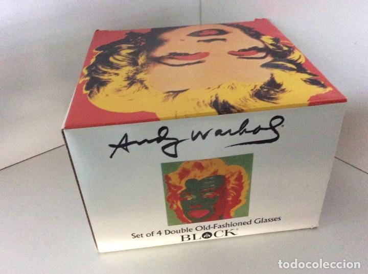 Vintage: Set 4 vasos Andy Warhol en su caja original jamás usados. Descatalogados piezas de coleccionista - Foto 7 - 191139821