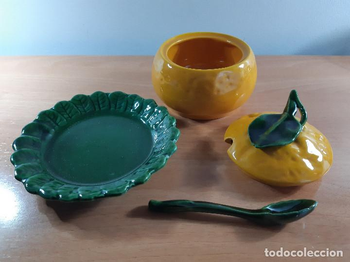 Vintage: Azucarero rústico porcelana esmaltada. Calabaza o naranja (Años 70) - Foto 3 - 191205798