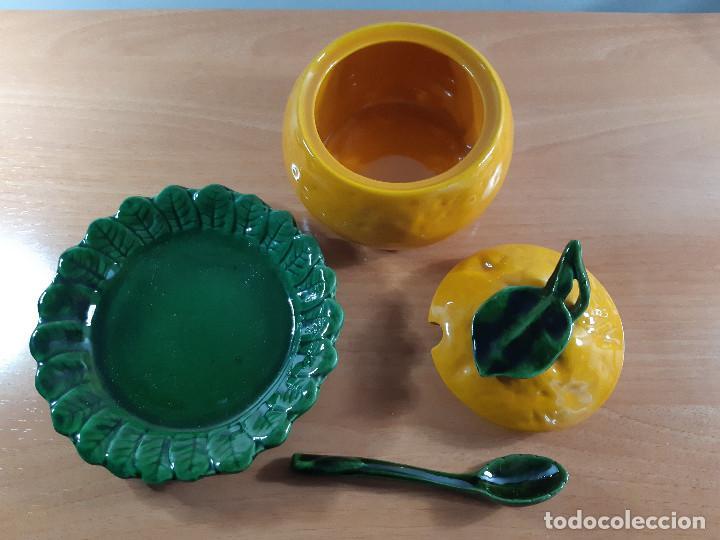 Vintage: Azucarero rústico porcelana esmaltada. Calabaza o naranja (Años 70) - Foto 4 - 191205798
