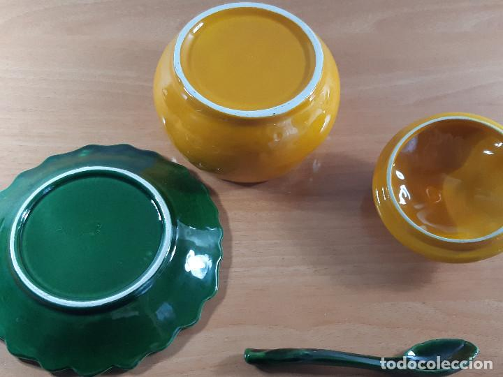 Vintage: Azucarero rústico porcelana esmaltada. Calabaza o naranja (Años 70) - Foto 5 - 191205798