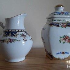 Vintage: JARRA Y TIBOR PORCELANA TIPO LIMOGES . Lote 191207197