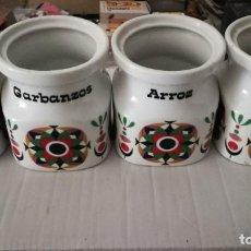 Vintage: 4 TARROS DE PORCELANA DE COCINA 145 X 130 MM.. Lote 191658517