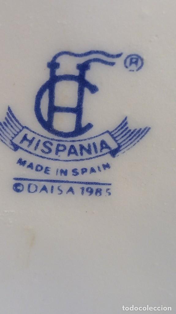 Vintage: FLORERO EN PORCELANA BLANCA DISEÑO CARACOLA. MANUFACTURA HISPANIA, SELLO EN LA BASE. - Foto 3 - 191878777