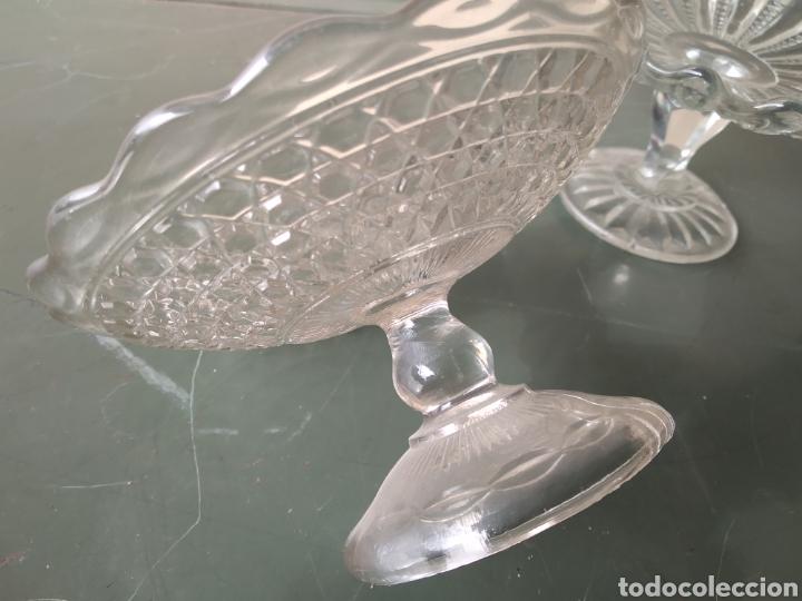 Vintage: Dos centros de cristal tipo frutero - Foto 4 - 191938245