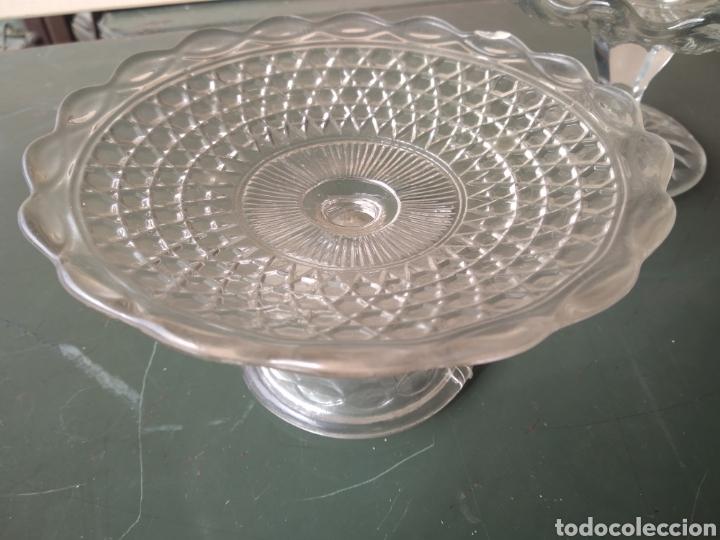 Vintage: Dos centros de cristal tipo frutero - Foto 6 - 191938245