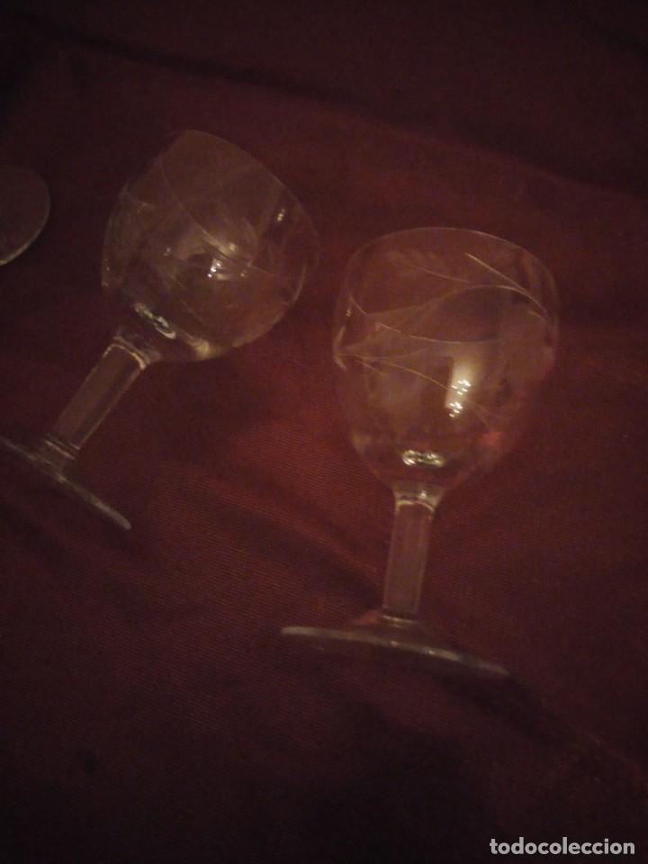 Vintage: Antiguo juego de 6 copas de licor de cristal. - Foto 4 - 192392583