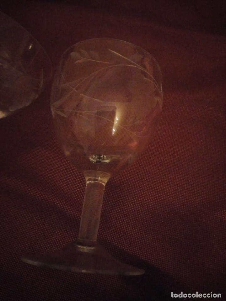 Vintage: Antiguo juego de 6 copas de licor de cristal. - Foto 5 - 192392583