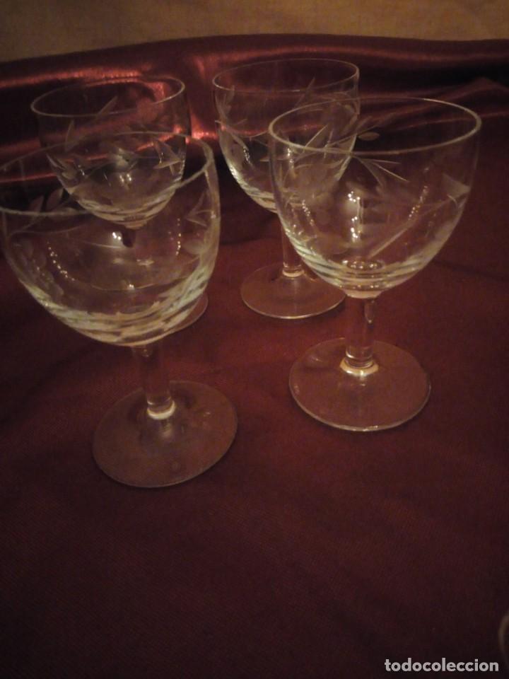 Vintage: Antiguo juego de 6 copas de licor de cristal. - Foto 6 - 192392583