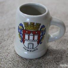Vintage: JARRA CERVEZA MINIATURA HAMBURG. Lote 192485896