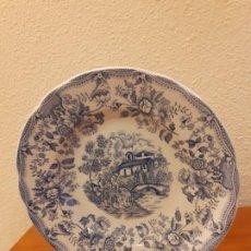 Vintage: PLATO DE DECORACION EN TONOS AZULES. Lote 192714617