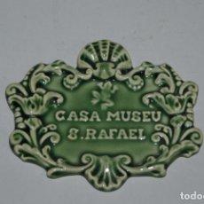 Vintage: PLACA DE CERÁMICA - CASA MUSEU SAO RAFAEL - MUSEO BORDALLO PINHEIRO. Lote 193777411