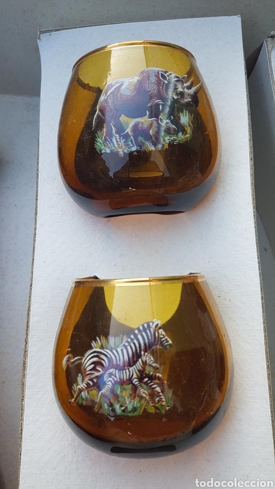 Vintage: Conjunto de licorera y vasos con motivos africanos animales - Foto 3 - 194213953