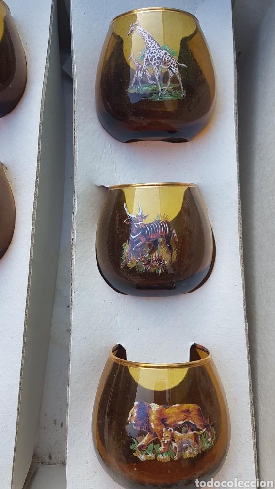 Vintage: Conjunto de licorera y vasos con motivos africanos animales - Foto 4 - 194213953