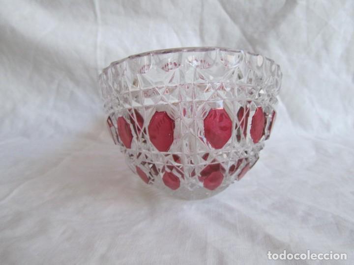 Vintage: Pequeña fuente cuenco ovalado de vidrio o cristal de Anna Hütte - Foto 3 - 194218036