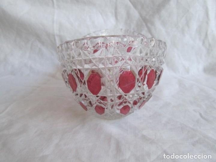 Vintage: Pequeña fuente cuenco ovalado de vidrio o cristal de Anna Hütte - Foto 5 - 194218036