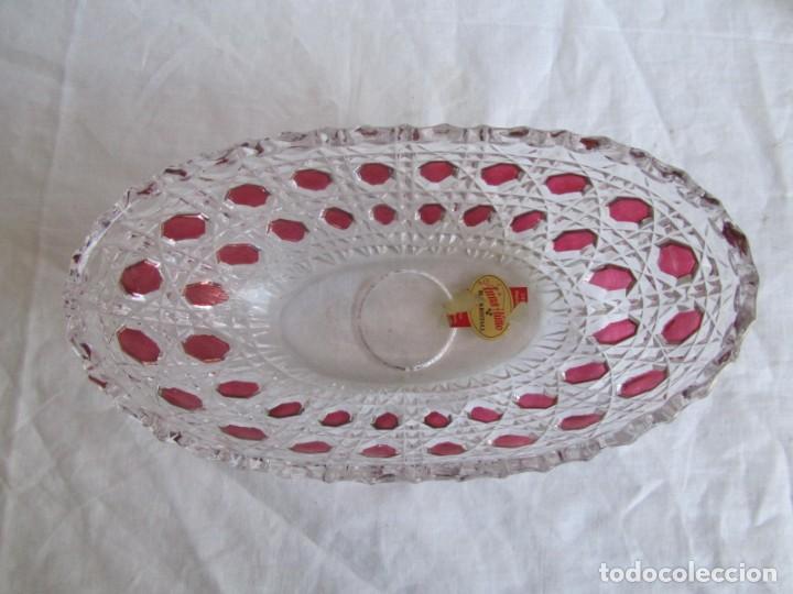 Vintage: Pequeña fuente cuenco ovalado de vidrio o cristal de Anna Hütte - Foto 6 - 194218036