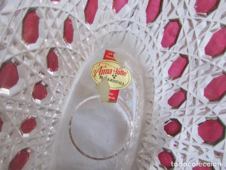 Vintage: Pequeña fuente cuenco ovalado de vidrio o cristal de Anna Hütte - Foto 7 - 194218036