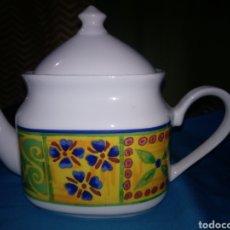 Vintage: BONITA TETERA O CAFETERA DE PORCELANA. Lote 194243998