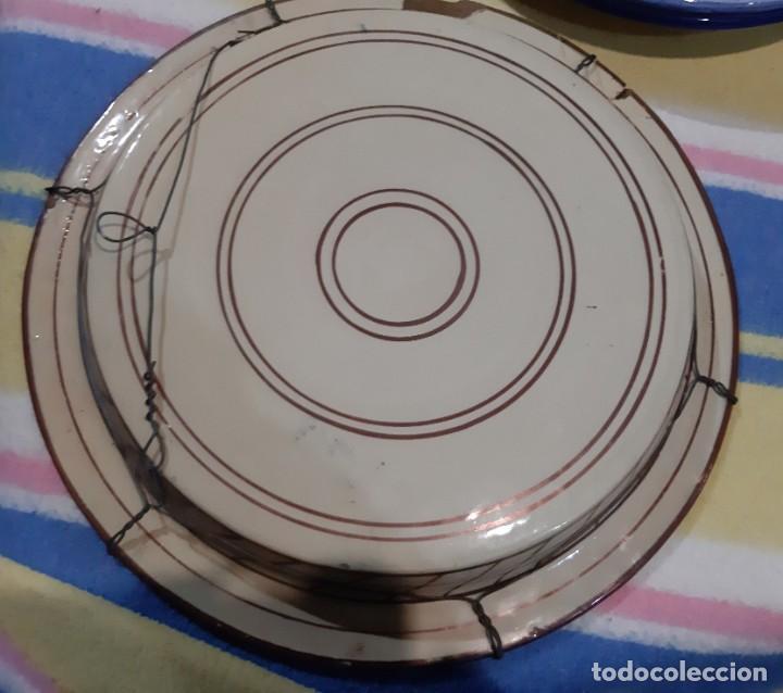 Vintage: plato grande porcelana arabe - Foto 3 - 194249850