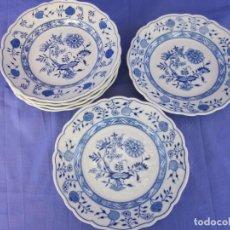 Vintage: 6 PLATOS DE PORCELANA HUTSTENREUTHER.. Lote 194331273