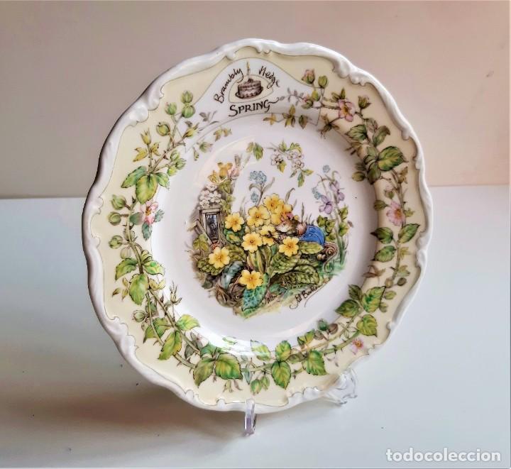 ROYAL DOULTON ENGLAND PLATO DECORATIVO FLORAL FIRMADO - 20.CM DIAMETRO (Vintage - Decoración - Porcelanas y Cerámicas)