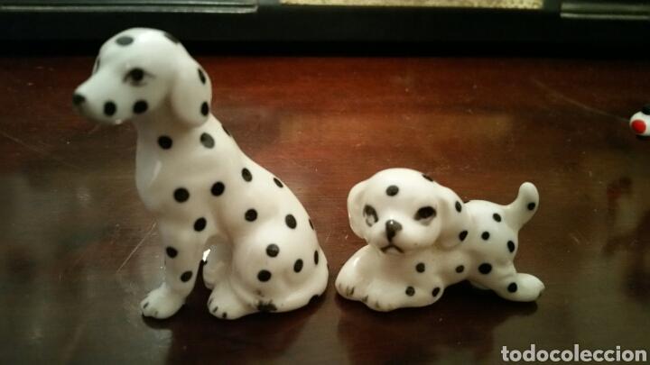 2 PEQUEÑOS PERRITOS DALMATAS DE PORCELANA (Vintage - Decoración - Porcelanas y Cerámicas)
