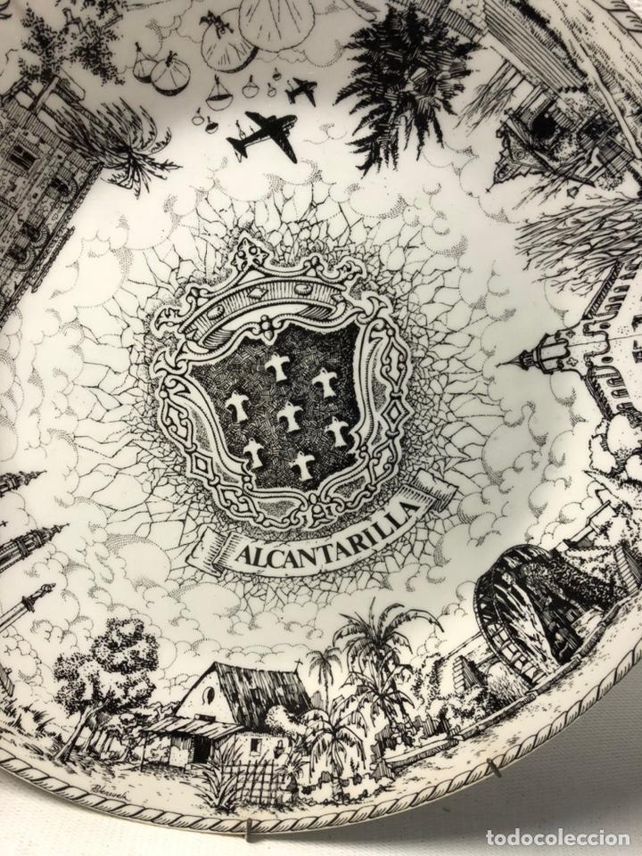 Vintage: PLATO DECORATIVO DEDICADO A ALCANTARILLA ··· VISTA POR E. PALENZUELA ··· - Foto 10 - 194508303