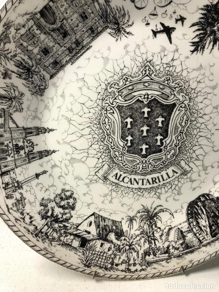 Vintage: PLATO DECORATIVO DEDICADO A ALCANTARILLA ··· VISTA POR E. PALENZUELA ··· - Foto 2 - 194508303