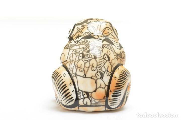 Vintage: Palillero de ceramica vintage o recipiente para los huesos de aceituna en forma de rana - Foto 6 - 194528972