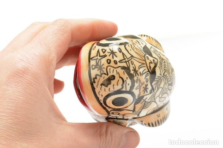 Vintage: Palillero de ceramica vintage o recipiente para los huesos de aceituna en forma de rana - Foto 8 - 194528972