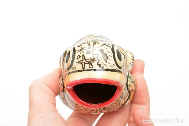 Vintage: Palillero de ceramica vintage o recipiente para los huesos de aceituna en forma de rana - Foto 12 - 194528972