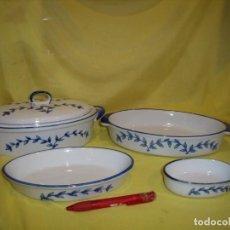 Vintage: SOPERA CON 3 BANDEJAS PORCELANA VINTAGE, AÑOS 90, NUEVO SIN USAR.. Lote 194578228