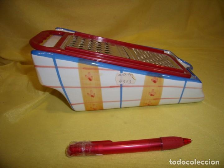 Vintage: Rallador pan, queso, etc. porcelana pintado a mano, años 90, Nuevo sin usar. - Foto 3 - 194601692